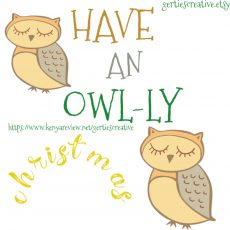 Have an Owlly Christmas