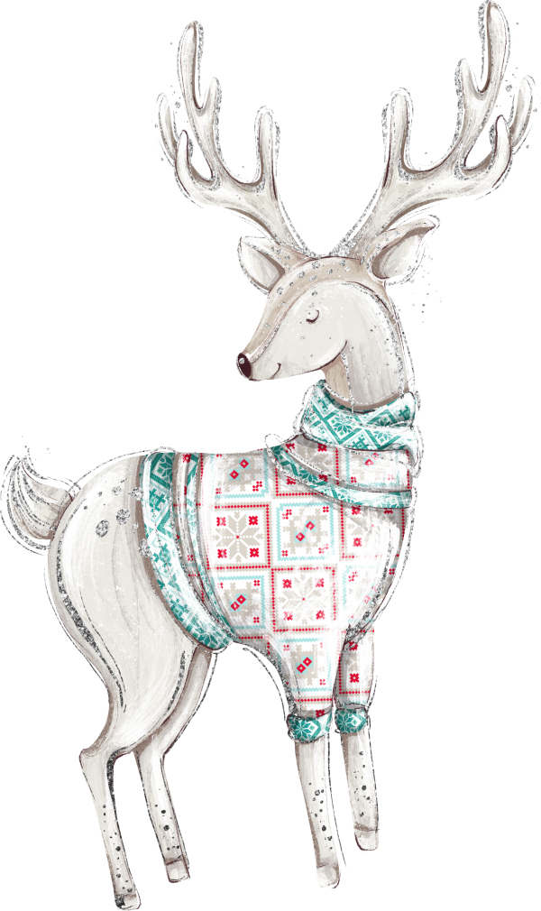 A-Decorated-Christmas-Reindeer
