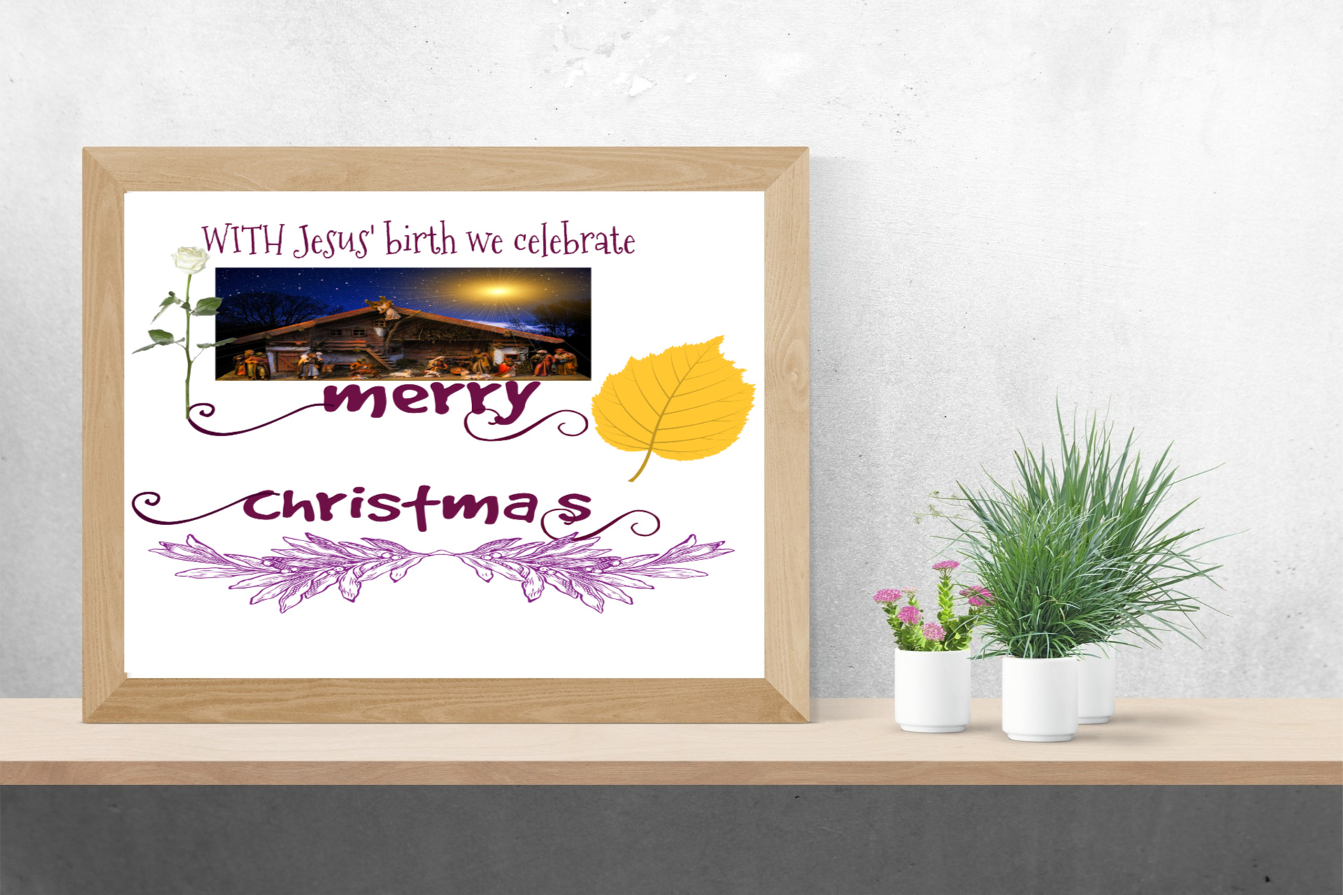 Jesus Christmas Quote.Celebrating Jesus Birth Printable Quote Instant Download Wall Hanging Christmas Decoration